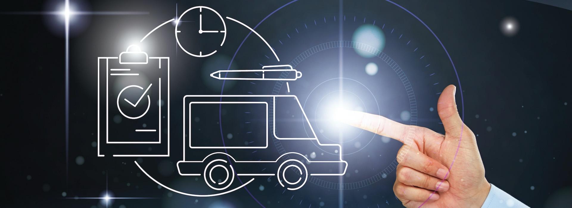 Международен транспорт и логистика (колаж)